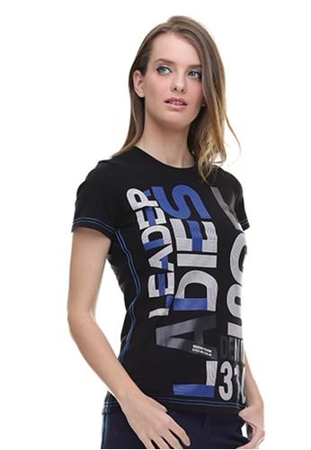 LGS black LGS - Regular Fit - Kaos Wanita - Sablon Teks - Hitam 0F6F6AACFCF70FGS_1