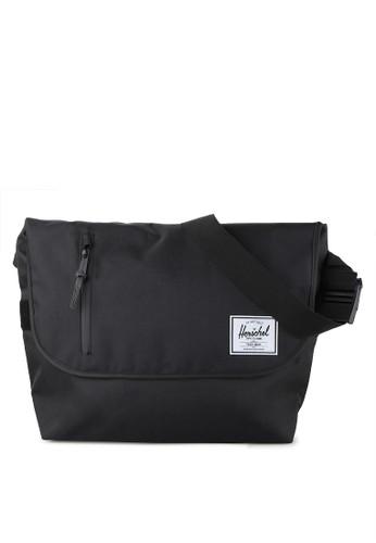 Herschel black Odell Messenger Bag A32FCAC66F601CGS_1
