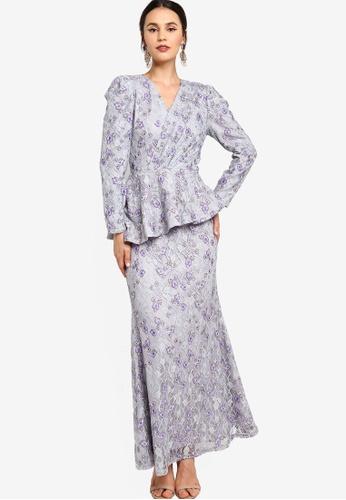 Zalia grey Draped Asymmetrical Peplum Dress 30562AA9122F8DGS_1