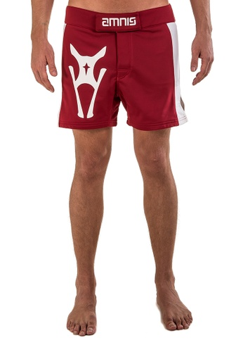 "AMNIG red Men Side Panel Fighter Shorts-15"" Red AM133AA21LGSMY_1"