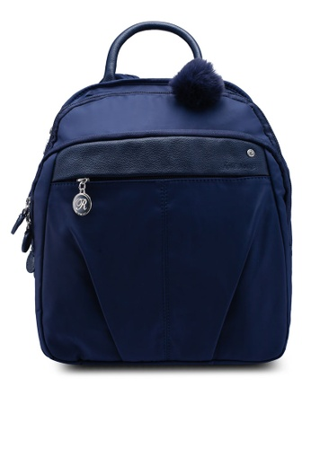 4d1772ca99 Buy NUVEAU Leather-Trimmed Nylon Backpack Online on ZALORA Singapore