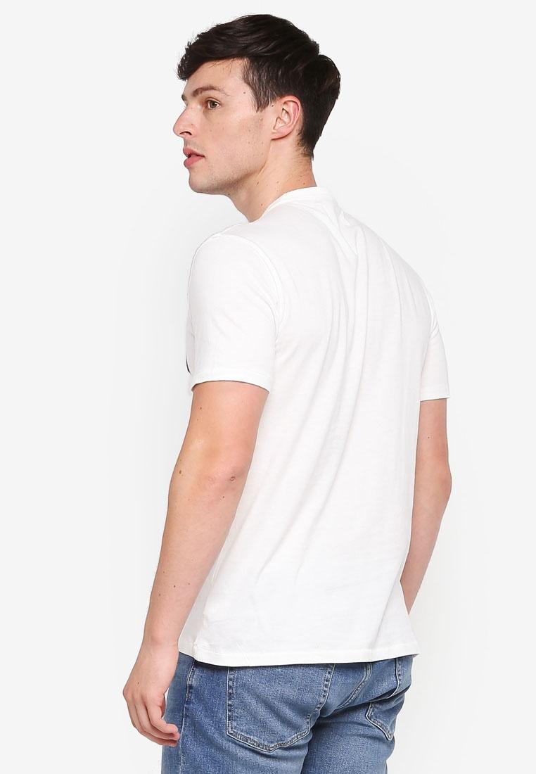 New Shirt GAP White T Neck Crew Off Logo qvfapw