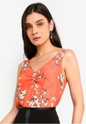 FORCAST orange Tessa Ruched Front Top 9744DAA06CBAB8GS_1