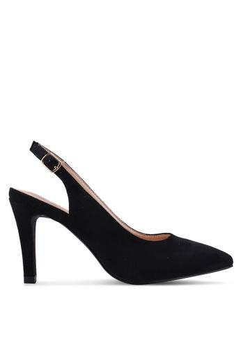 Carlton London 黑色 繞踝粗跟鞋 A0C77SHE2ACC8BGS_1