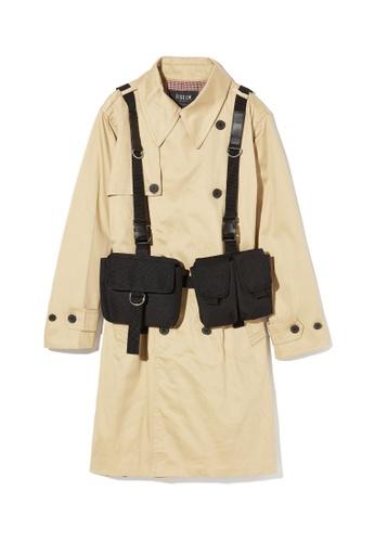 Fivecm beige Strap back trench coat 5E077AA3075E46GS_1