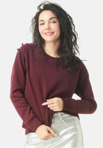 London Rag red Sweatshirt With Shoulder Lace Loop 1EE73AA272AFFCGS_1