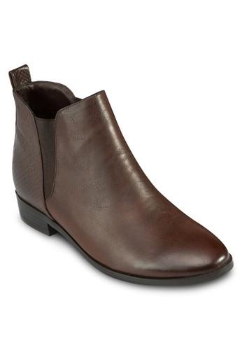 Arte 蛇紋拼接踝靴,zalora時尚購物網的koumi koumi 女鞋, 靴子