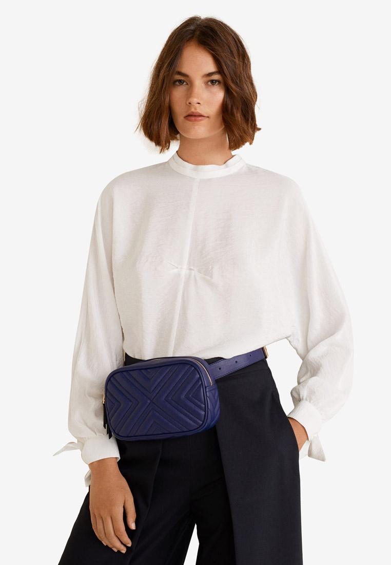 White Shirt Detail Mango Natural Ruched WwFWqIRS0