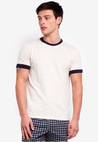UniqTee 白色 修身T恤 CCD66AAA729825GS_1