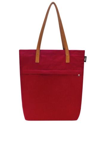 Ripples red Trey Utility Canvas Tote Bag RI425AC0FEITSG_1