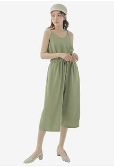 625efed8811 Tokichoi green Drawstring Waist Cami Jumpsuit D7A68AAC222D2CGS 1
