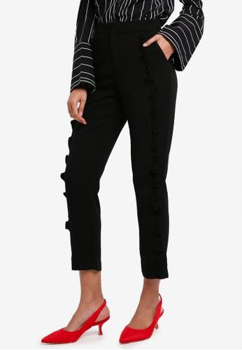 Bardot black Frill Cigarette Pants 32A29AA8B9ECABGS_1