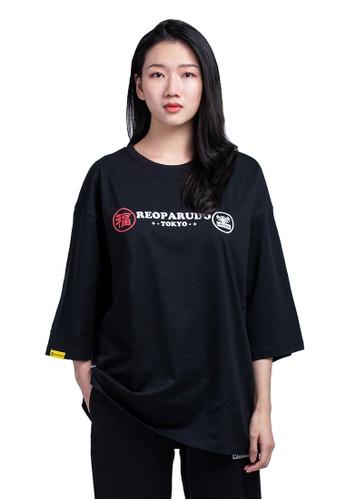 Reoparudo black RPD Fukuoka [Year Limited Edition] oversized Tee (Black) 5B045AA0107C4FGS_1