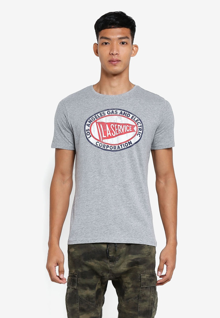 Grey Light Graphic OVS Melange T Shirt qBIwHBvznP