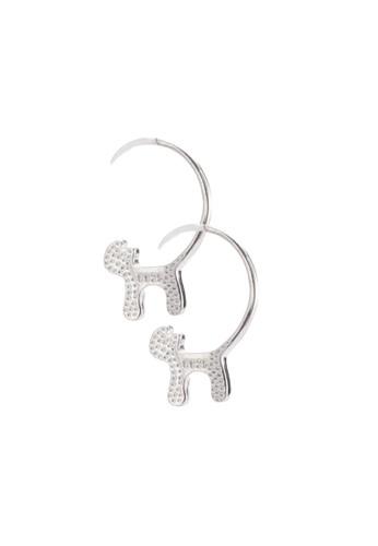 貓esprit床組造型鉤扣耳環, 飾品配件, 飾品配件