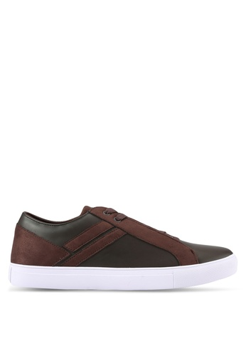 ZALORA brown Contemporary Mixed Materials Sneakers 2A2D3SH6B15788GS_1