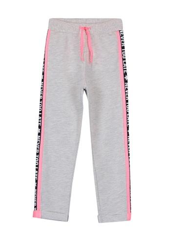 LC Waikiki grey Elastic Printed Girl's Sweatpants BDD06KA3CB98D4GS_1