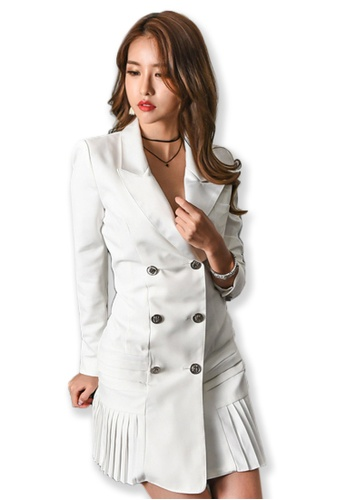 Buy Sunnydaysweety 2017 F/W White Long Sleeves Trench Coat Dress ...