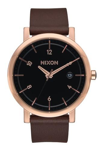 Nixon brown ROLLO 38 ROSEGOLD/BLACK ADEF9ACE9C74B3GS_1