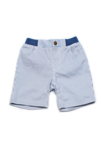Mini Moley white Striped Boy's Shorts 6636FKA5D19E31GS_1