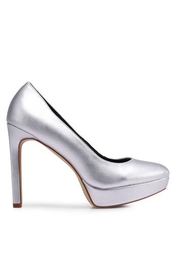 Nose silver Pointed Platform Heel Pumps E9CDASH9F25566GS_1
