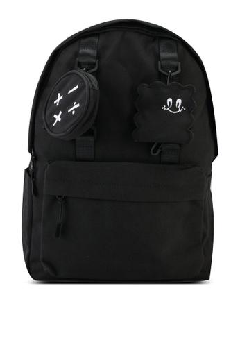 Bagstationz black Fashion Laptop Backpack B3FD9ACBB2A1D5GS_1