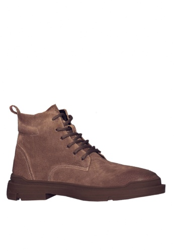 Twenty Eight Shoes 褐色 Stylish Pig Suede Mid Boots VMB8881 03A7BSHAD68720GS_1