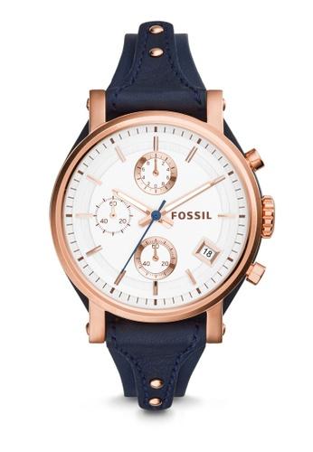 Fossil blue Fossil Original Boyfriend Blue Leather Watch ES3838 FO164AC42NBDMY_1