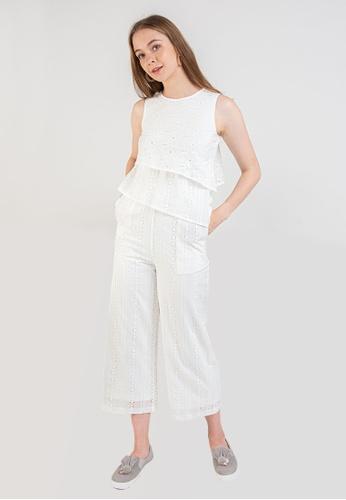 L'zzie white LZZIE ASALIA JUMPSUIT - WHITE A0688AA70BA647GS_1