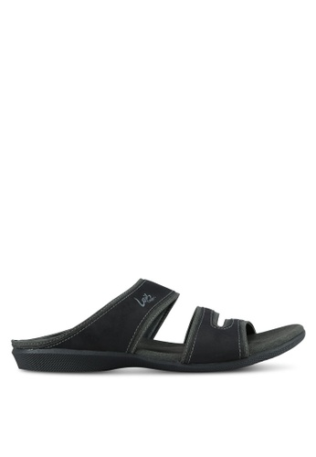 Louis Cuppers black Casual Sandals LO977SH0S9SCMY_1