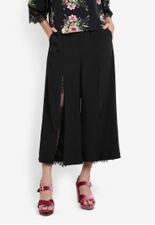 Something Borrowed black Lace Panel Slit Culottes 7D163AA7B962DDGS_1