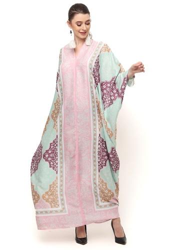 Kanzi by liza yahya multi Kanzi Long Sleeve Monochrome Ethnic Kaftan 05AB4AA4410E88GS_1