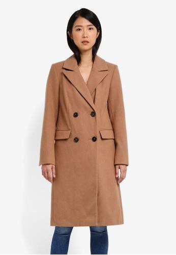 TOPSHOP brown Editors Coat TO412AA0SD61MY_1