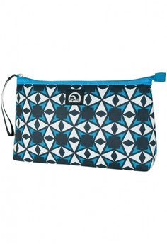 Starburst Tile Capri Blue Lunch Clutch