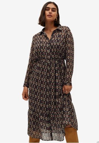 Violeta by MANGO blue Geometric Print Dress CE3F7AA671CBCFGS_1
