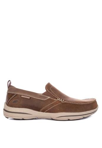 Skechers brown Harper Forde Moc Toe Slip On Shoes AEF61SH0A64F1FGS_1