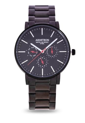 Armitron black Men's Chronograph Watch 20/5144NVSV A07D9AC1F3D59AGS_1