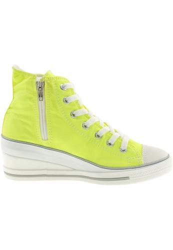 Maxstar green Maxstar Women's 7H Zipper Canvas Low Wedge Heel Sneakers US Women Size MA164SH61PVUSG_1