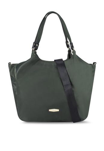 Mel&Co green Nylon Double Handle Bag 19D50AC21F6B7BGS_1