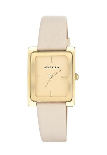Anne Klein gold Anne Klein Ladies - Leather Strap Watch - AK-2706CHIV AN844AC0RH8DMY_1