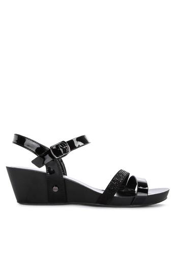 8589357d32 Shop CLN Benevolence Strappy Low Wedge Sandals Online on ZALORA Philippines