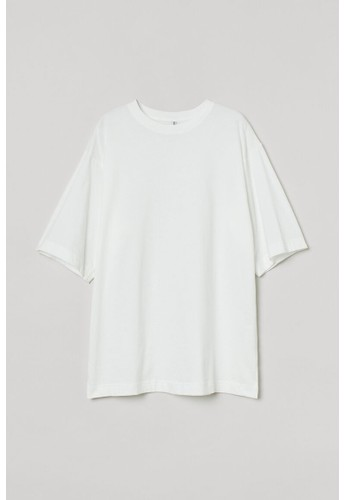 H&M white Oversized T-shirt C7AC6AAC7FE035GS_1