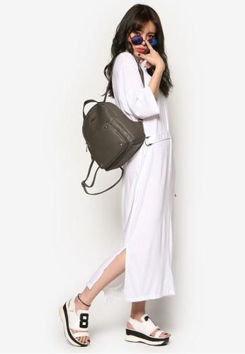 esprit香港分店腰帶寬版高領連身裙, 服飾, 洋裝