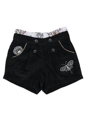DU PAREIL AU MÊME (DPAM) grey Charcoal Woven Shorts 54752KACC36E67GS_1