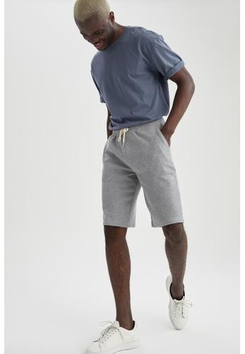 DeFacto grey Slim Fit Sweatshirt Bermuda Shorts 7E521AA722FC69GS_1