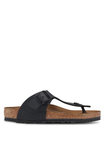 Birkenstock 黑色 Ramses Birko-Flor Sandals C43D4SHDB51A5BGS_1