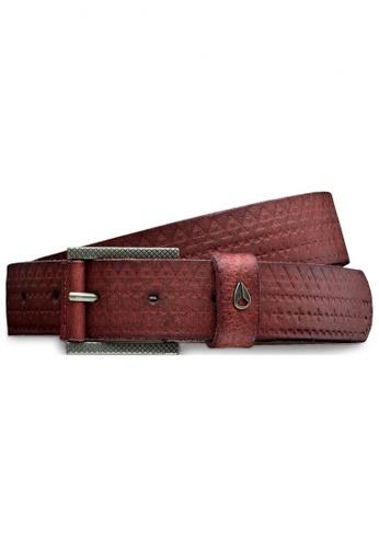 Nixon brown Nixon - Americana Slim Belt Embossed Brown NI855AC32EGHSG_1