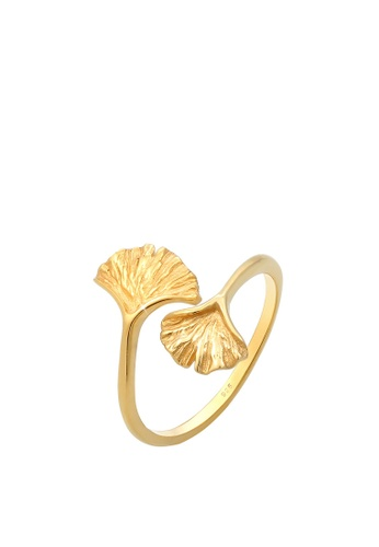 Elli Germany gold Elli Germany Ring Ginkgo Leaves Filegree in 925 Sterling Silver Gold Plated 1C87EAC279996CGS_1