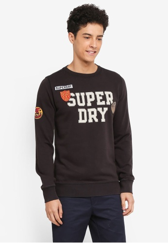 Superdry 黑色 Upstate Wash Crew Sweatshirt FB8A2AA9BA1AB7GS_1