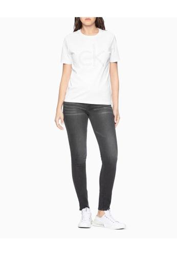 Calvin Klein white Calvin Klein Studded Logo Tee 223A5AA6AF13D9GS_1